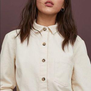 Tops - Corduroy button down shirt